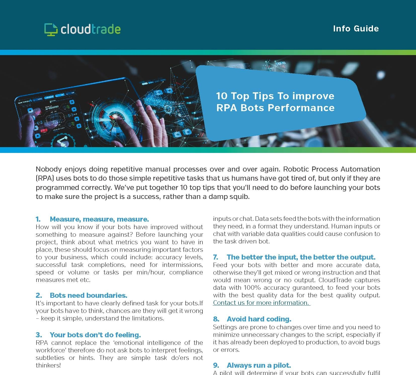 Download - 10 Top Tips to Improve RPA Bots Performance