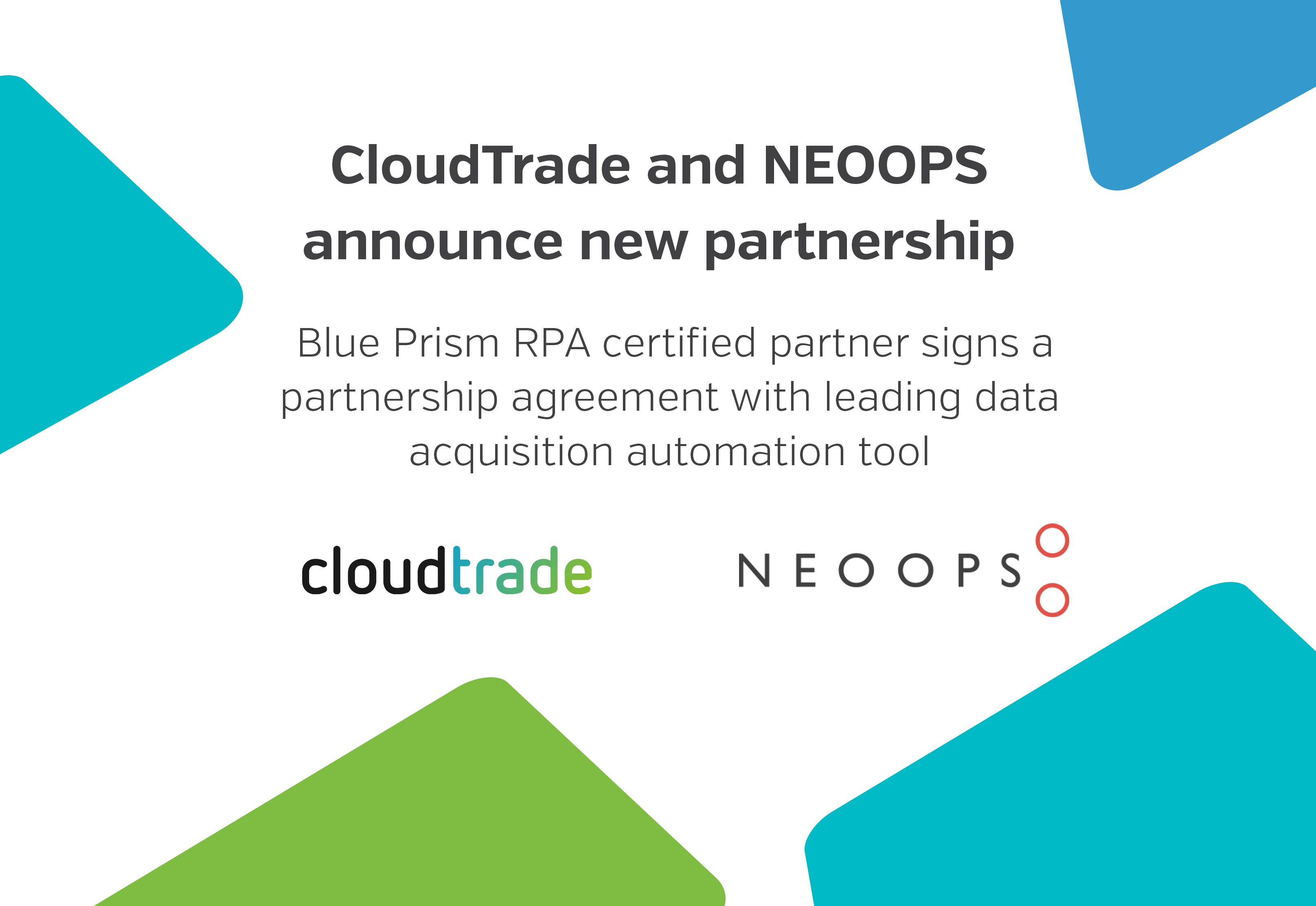 CloudTrade and NEOOPS announce new partnership